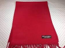 100% Kaschmir Schal 72X12 Solid Rot Warm Schottland Wolle Loop Unisex Elegant