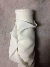 Tissu au mètre BURLINGTON ECRU IVOIRE infroissable ameublement habillement 1m50