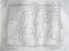 48 Lozère gravure carte géographique Tardieu 1840 (1c)