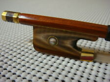 7K Gold Top Pernambuco Viola Bow / Red OX Horn Frog