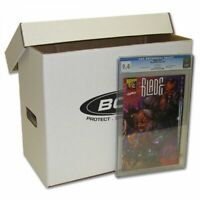 NEW BCW Short Cardboard CGC GRADED Comic Storage Box case of TEN (10)