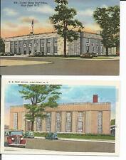 U.S.POST OFFICE, HIGH POINT, N.C. 2 POSTCARD VIEWS