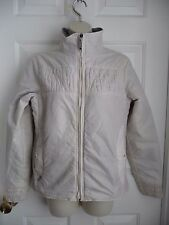 Burton M Ladies Jacket Cream White Full Zip Lightweight Maps Compass LiningPrint
