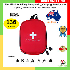 First Aid Kit For Hiking Backpacking Camping Travel Car Waterproof Laminate Bag