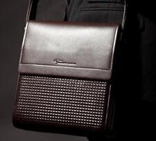 Men real Genuine Leather Handbag Briefcase Shoulder Messenger small brown bags