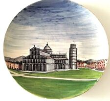 Vintage Leaning Tower of Pisa Collectors Plate Hand Painted Cardo d Oro Italy
