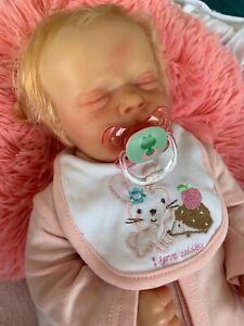 Genuine Bountiful Baby Reborn Doll Pearl Asleep Custom Made Rooted Hair & Lashes