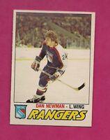 1977-78 OPC # 362 RANGERS DAN NEWMAN  ROOKIE EX-MT CARD (INV# 8558)