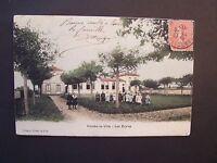CPA  ( 77 )  - COMBS-LA-VILLE  -  Les Ecoles  - 1907  ( CP couleurs )