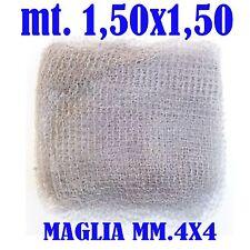 rete per bilancia nylon ritorto 150x150 diam 4mm pesca alborelle minutaglia mare