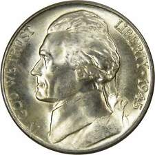 1945 D Jefferson Wartime Nickel BU Uncirculated Mint State 35% Silver 5c US Coin