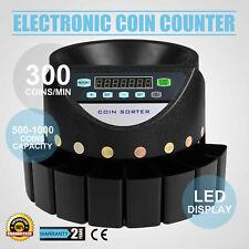 Conta Monete Automatico Selezionatrice Elettrico 8 Cassetti Eurocents Pro