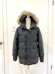 Oakley Gretchen Bleiler Snow Winter Down Jacket - Grey/Small