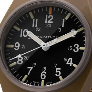 Marathon Military General Purpose Quartz Maraglo (GPQ) watch- tan NEW WW194009DT