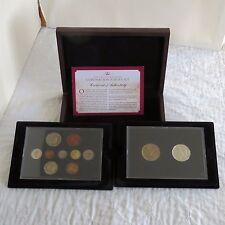 1953 10 COIN PROOF YEAR SET AND 2013 BU £5 DIAMOND JUBILEE CROWN SET - boxed/coa