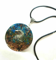 Orgone Orgonite pendant Spirit of the Falcon, stones and crystals, unisex