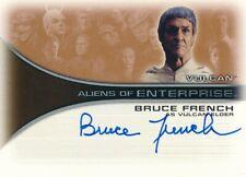2002 RITTENHOUSE STAR TREK ENTERPRISES AUTOGRAPH CARD BRUCE FRENCH #AA6