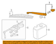 VW VOLKSWAGEN OEM Wiper Washer-Liftgate Tailgate Hatch-Wiper Arm 8D9955407A