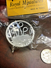 Doll House Miniature Accessory: White Metal Patio Chair *VINTAGE A47