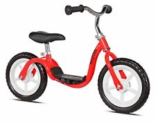 v2e No Pedal Balance Bike with Step-In Footrest Design - 12 inch Red