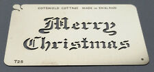 Stainless Steel Merry Christmas T25 cake decorating / card making stencil
