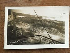 c1920 Postcard Photo RMS ANTONIA in Rough Seas Cunard Ocean Liner Shipping