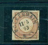 Adler mit grossem Brustschild Nr. 21 a auf Briefstück Stempel Bolkenhain