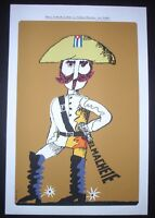 """THE MACHETE"" / Cuban Silkscreen Movie Poster / CUBA Art by Muñoz Bachs"