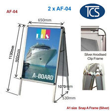 TCS A1 Double Snap a Frame Board Display Sign Poster Stand 32mm