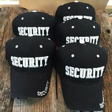 WHOLESALE DEALERS LOT 5X BLACK SECURITY Baseball Caps HAT HT-89 5 LOT