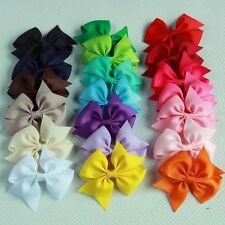 20Pcs Baby Girls Cute Hair Bows Boutique Alligator Clip Grosgrain Ribbon Hairpin