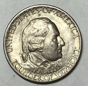 1925 Lexington Concord Vermont Half Dollar silver
