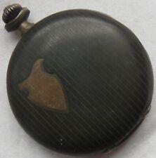 Chronometre Pocket Watch silver & enamel hunter case balance Ok. to restore