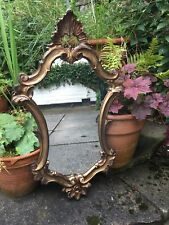 ORO Antico Specchio Parete ROCCO ornata da Toeletta Bagno Specchio Parete Ovale