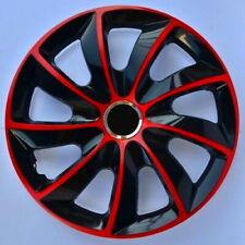 4x Radkappen STIG EXTRA Rot Schwarz 14
