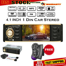 4.1 in 1 Din In Dash CD Car Player Bluetooth USB MP5 Stereo Audio Receiver USA