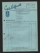 MARIAWEILER, Rechnung 1956, Gebrüder Kufferath Metall-Weberei