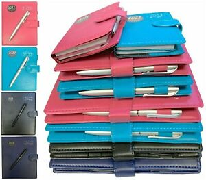 2022 Diary A5 Pocket SLIM Week to View Organiser Address Book & Pen 4 COLOURS