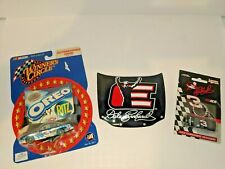 LOT OF 3 DALE EARNHARDT SR & JR  COLLECTABLES HOODS CAR KEYCHAIN NEW & USED D11
