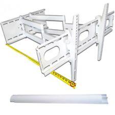 TV LCD Wandhalterung Halterung Neigbar Schwenkbar Doppelarm für TV bis 70kg weiß