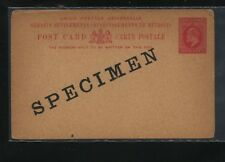 Straits  Settlements  3 cents postal  card  specimen   unused       MS0131
