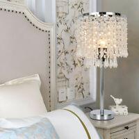 Crystal Table Lamp Bedside Perfect Elegant Decorative Desk Crystal Shade Bedroom