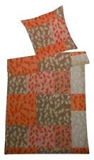 Villa Noblesse Renforce Bettwäsche Set 2 teilig 135 x 200 cm orange Patchwork