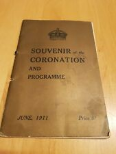 Souvenir of the Coronation and Programme 1911