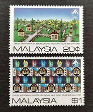 1987 Malaysia International Year Shelter for Homeless 2v Stamps Fresh Mint NH OG
