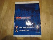 Bournemouth Home Teams A-B Final Football Programmes