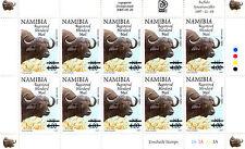NAMIBIA 1997 DEFINITIVES OVERPRINTED 2005 SG1003 SHEETLET OF 10 MNH