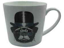 Jameson & Tailor Pug Dog Design Porcelain Mug/Cup - 0.45L - Gift Mug -  Boxed
