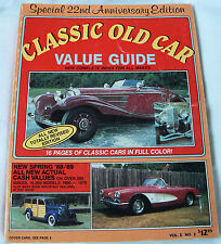 Classic Old Car Value Guide, 1988 by Quentin Craft (Paperback) 22nd Anniversary