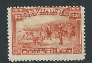 Bigjake: Canada #102, 15 cent Champlain Heads West